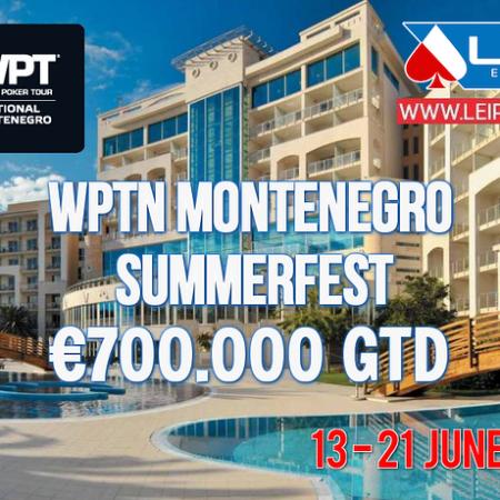 WPTN Montenegro Summerfest: 13-21 июня, гарантия более €700,000