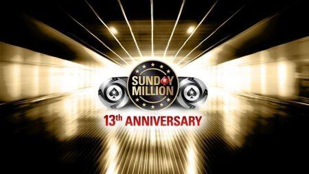 13-ый Юбилейный Sunday Million: 14 апреля, гарантия $10,000,000