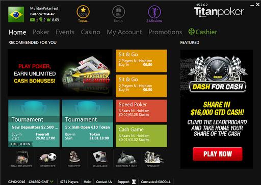 Titan Poker лобби