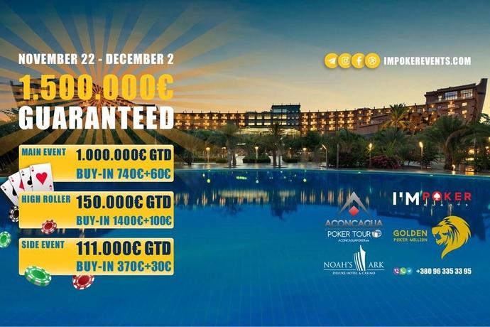 Golden Poker Million: 22 ноября - 2 декабря (Кипр