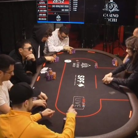 Ернат на финальном столе Main Event Sochi Poker Festival 2020