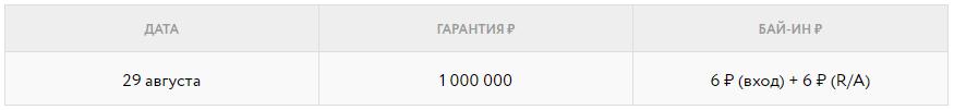 Праздничный турнир с гарантией 1 000 000