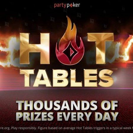 Hot Tables на partypoker — дополнительные награды в кэш-играх