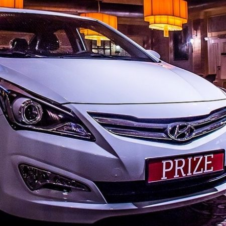 5 августа в Покерном клубе Bombay будет разыгран новенький автомобиль Hyundai Solaris!