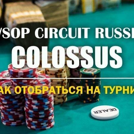 Colossus WSOP Circuit Russia: отбираемся через сателлиты