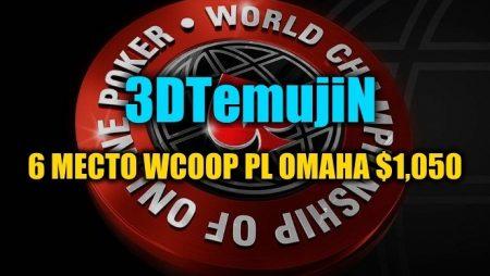 """""""3DTemujiN"""" получил $15,6К в WCOOP PL Omaha $1,050"""